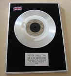 PETER SKELLERN - LOVE IS THE SWEETEST THING PLATINUM single presentation DISC